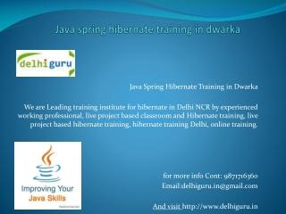 java training in delhi-9871716360