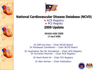 National Cardiovascular Disease Database  ( NCVD )   ACS Registry    PCI  Registy 2009 Update  NHAM ASM 2009 17 Ap