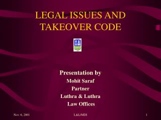 legal issues and takeover code