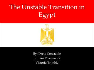 The Unstable Transition in Egypt