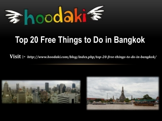 Top 20 Free Things to Do in Bangkok