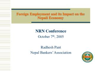 Foreign Employment and its Impact on the Nepali Economy