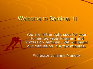 Welcome to Seminar 1!