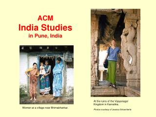 ACM India Studies in Pune, India