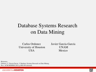 Database Systems Research  on Data Mining