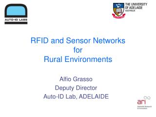 RFID and Sensor Networks for Rural Environments