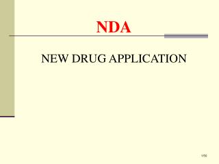 NDA  NEW DRUG APPLICATION