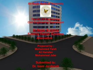 An-Najah National University     Faculty Of Engineering  Civil Engineering Department   Al-Najjar Building  Footing Desi