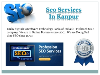 Seo Services In Kanpur  - Lucky Digitals