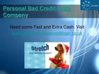 Online Personal Bad Credit Loans