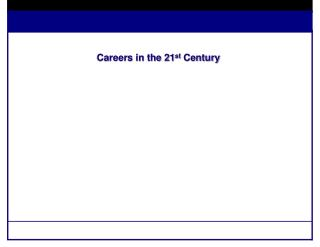 Careers in the 21 st  Century