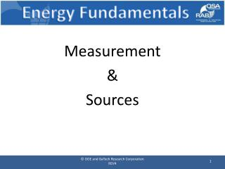 Energy Fundamentals