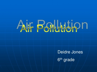 Information about air pollution
