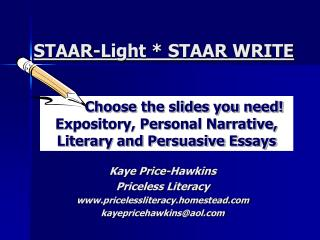 STAAR-Light * STAAR WRITE