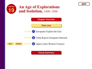 An Age of Explorations  and Isolation, 1400 1800