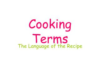 Cooking Terms