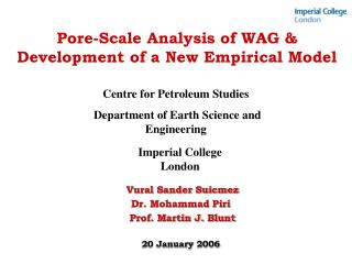 Pore-Scale Analysis of WAG  Development of a New Empirical Model