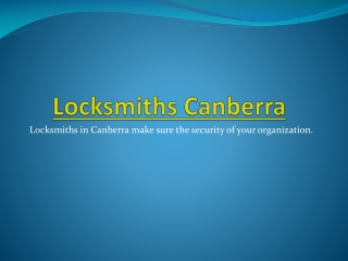 Locksmiths Canberra