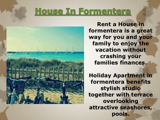 Rent A House In Formentera