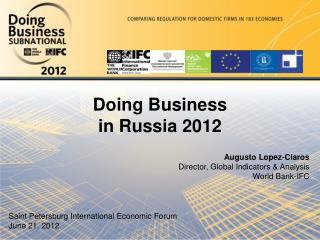 Doing Business in Russia 2012