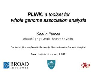 PLINK : a toolset for  whole genome association analysis