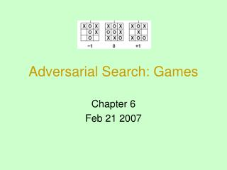 Adversarial Search: Games
