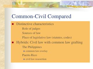 Common-Civil Compared