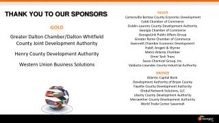 GOLD Greater Dalton  Chamber/Dalton  Whitfield County Joint Development Authority Henry County Development Authority Wes