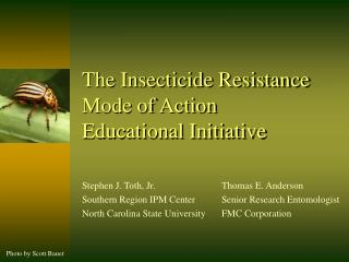 The Insecticide Resistance Mode of Action  Educational Initiative