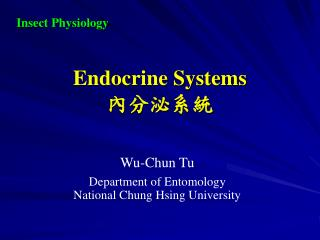 Endocrine Systems 內分泌系統