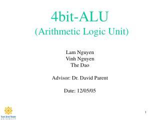 4bit-ALU (Arithmetic Logic Unit)