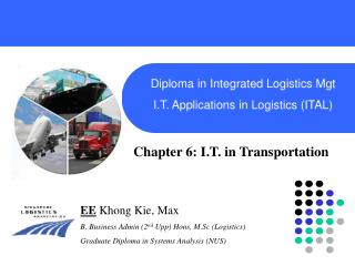 Diploma in Integrated Logistics Mgt I.T. Applications in Logistics (ITAL)