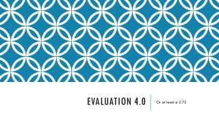 Evaluation 4.0
