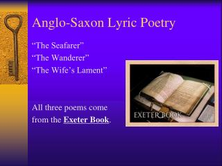 Anglo-Saxon Lyric Poetry
