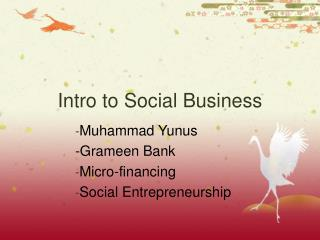 Intro to Social Business