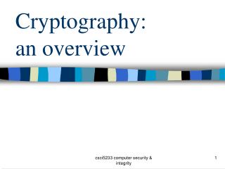 Cryptography:  an overview