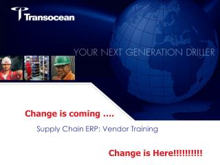 Supply Chain ERP: Vendor Training