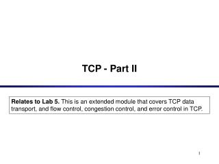 TCP - Part II