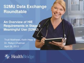 S2MU Data Exchange Roundtable