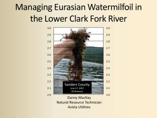 Managing Eurasian Watermilfoil in the Lower Clark Fork River