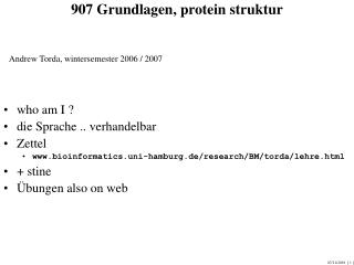 907 Grundlagen, protein struktur