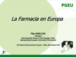 La Farmacia en Europa
