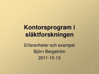Kontorsprogram i släktforskningen