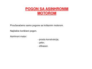 POGON SA ASINHRONIM MOTOROM