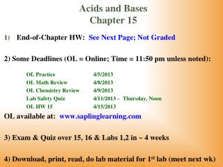 acids and bases chapter 15