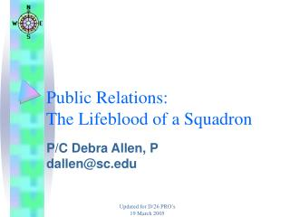Public Relations: The Lifeblood of a Squadron