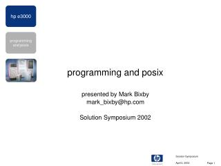 programming and posix