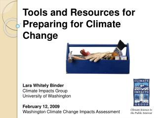 Tools and Resources for Preparing for Climate Change
