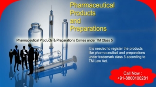 Trademark Class 5 | Pharmaceutical Products