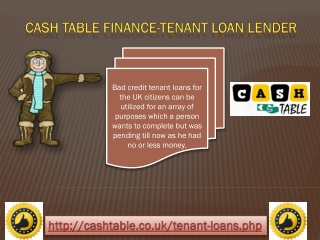 Cash Loans for Tenant| Council Tenant Loans| Unsecured Loans